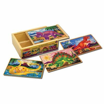 Melissa And Doug Dinosaur Jigsaw Puzzles In A Box - 13791 - NEW! • 10.99£