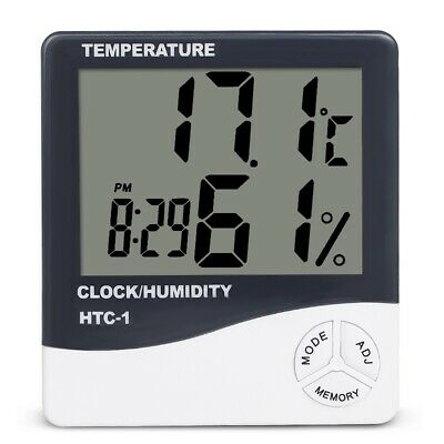 Thermometer Humidity Meter - Hydroponics Hygrometer For Grow Rooms • 12.99£