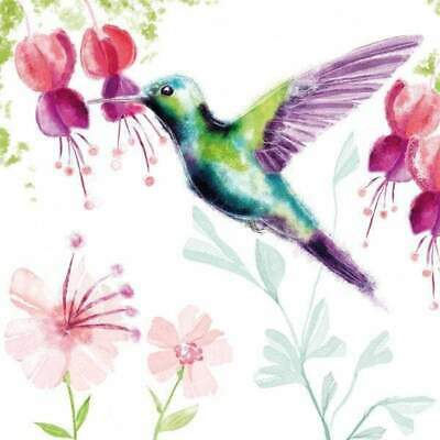 £5.49 • Buy Pack Of 20 Bright Hummingbird Paper Napkins For Decoupage, Table, Party