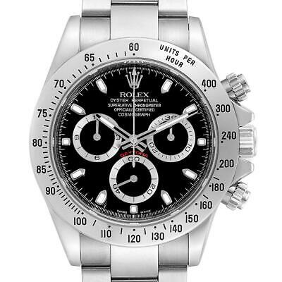 $ CDN26747.43 • Buy Rolex Daytona Black Dial Chronograph Stainless Steel Mens Watch 116520