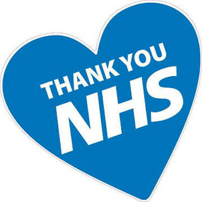 £2.99 • Buy NHS Thank You Heart Enamel Pin Badge – National Health Service Front Line Heroes