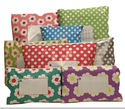 £2.50 • Buy MIXED Polka Dot & Daisy Floral Mailing Bags Mixture Of  2 Designs 3 Sizes