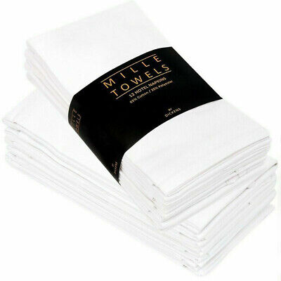 £8.95 • Buy 50% Cotton 12Pc Napkins Wedding Table Cloth Table Ware Dinner Party Soft Fabric