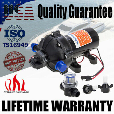 $93.99 • Buy Marine Water High Pressure Diaphragm Pump 12V DC 60PSI 5.0GPM For Boat RV Yacht
