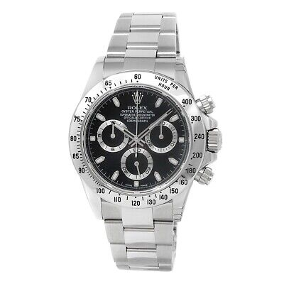 $ CDN28517.01 • Buy Rolex Daytona Stainless Steel Oyster Chronograph Auto Black Men's Watch 116520