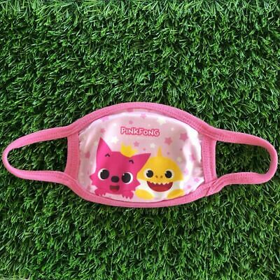 $10.75 • Buy Baby Shark Face Mask PinkFong Kid Size Double Layered