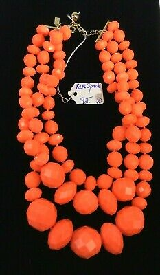 $ CDN114.17 • Buy VTG Kate Spade Bright Orange Plastic W Bag Costume Jewelry Necklace Charity DS02
