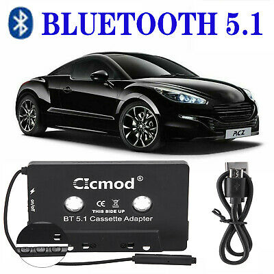 £14.69 • Buy Bluetooth 5.1 Car Audio Stereo Cassette Tape Adapter To Aux For IPhone IPod MP3