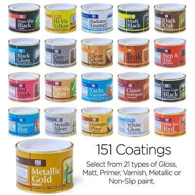 151 Coatings Paint Primer Metallic Gloss Matt Red Gold Silver Black White 180ml • 4.99£