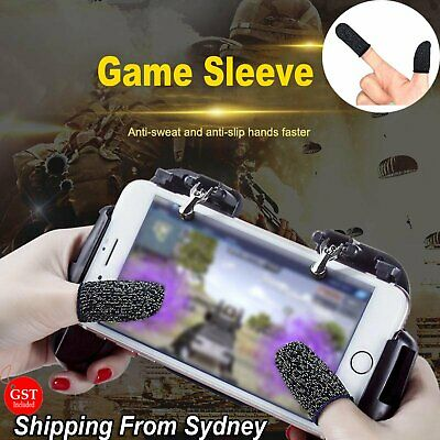 AU7.99 • Buy 4pcs Mobile Finger Sleeve Touch Screen Game Controller Sweatproof Gloves