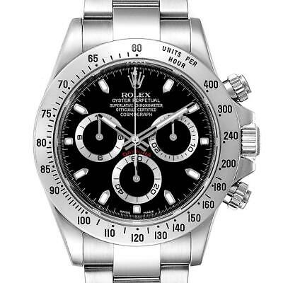 $ CDN23598.88 • Buy Rolex Daytona Black Dial Chronograph Stainless Steel Mens Watch 116520