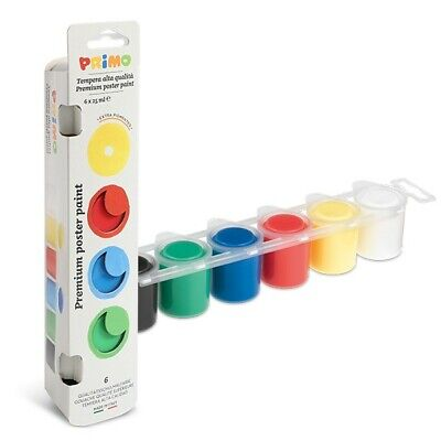 £9.10 • Buy Primo Ready-mix Poster Paint 6 Colours 25 Ml - Basic, Metallic And Fluorescent