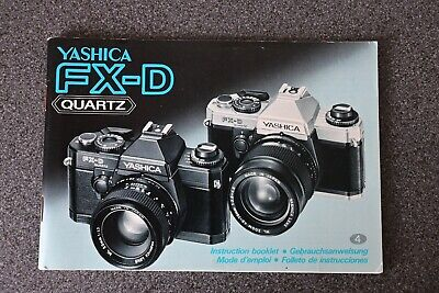 Original Yashica FX-D Users Instruction Manual • 5£