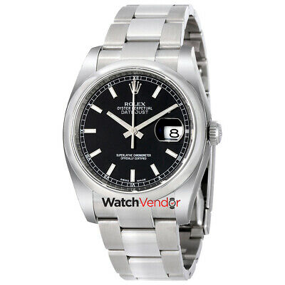 $ CDN10013.99 • Buy Rolex Datejust 36 Stainless Steel Oyster Automatic Mens Watch 116200BKSO
