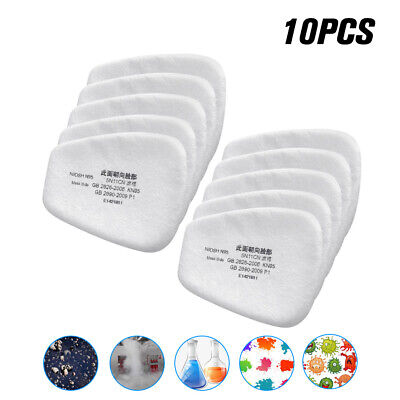 AU8.91 • Buy 10pcs/set 5N11 Cotton Filter Replacement Filters For 6200 6800 7502 Respirator