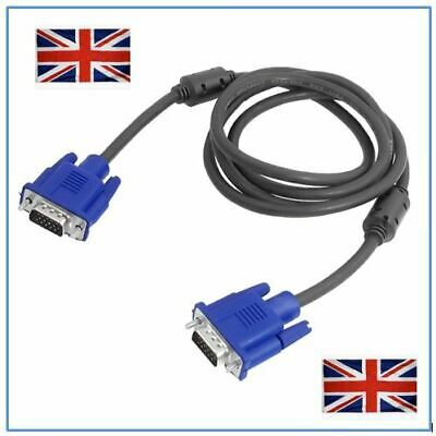 1.8 Metre Vga/svga 15 Pin Male To Male Pc Monitor Tv Lcd Plasma Led Cable Lead • 3.85£