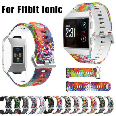 $ CDN11.85 • Buy Sport Fashion Pattern Silicone Strap Wrist Band Replacement For Fitbit Ionic
