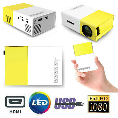 AU93.20 • Buy YG300 USB HDMI Portable Mini LED HD Projector Home Cinema Theater For IOS Adroid