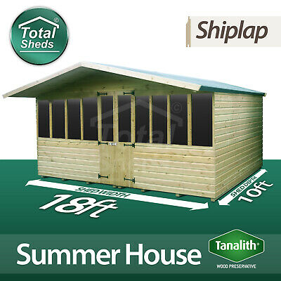 £2739.38 • Buy 18 X 10 SUPREME SUMMER HOUSE LOG CABIN WOODEN SHED TOP QUALITY GRADED TIMBER