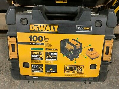 $359 • Buy DEWALT 100 Ft. Green Self-Leveling 5-Spot Beam Laser - DW085LG