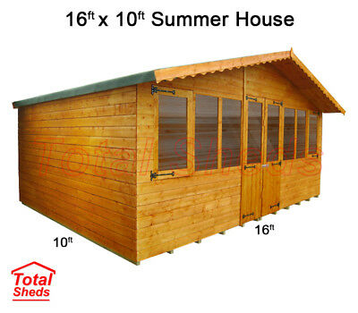 16 X 10 SUPREME SUMMER HOUSE LOG CABIN WOODEN SHED TOP QUALITY GRADED TIMBER • 1,792.24£