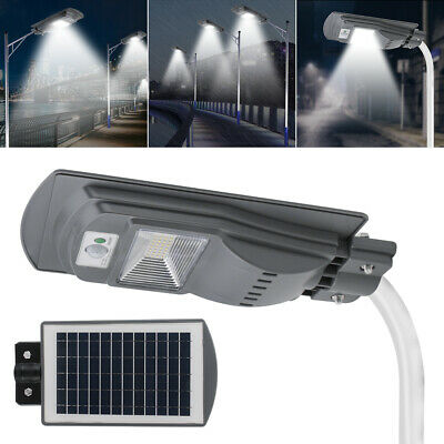 30W 40LED Solar Powered Wall Street Light PIR Motion Outdoor Garden Lamp IPX6 UK • 19.98£