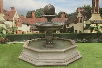 Brecon Pool Surround, With Edwardian Ball Garden Water Fountain Feature • 2,632.85£