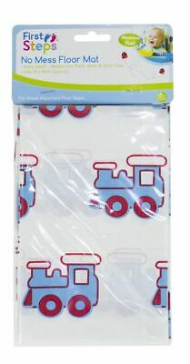 £3.99 • Buy Baby Floor Mat No Mess High Chair Feeding Cover Messy Play Splash Painting Blue