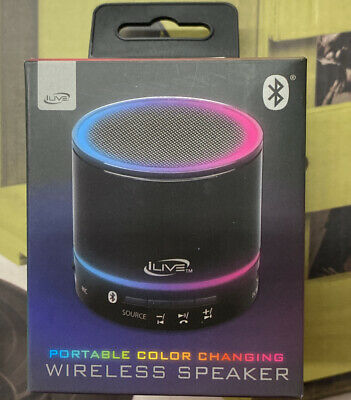 $17.99 • Buy ILIVE Portable Color Changing Wireless Speaker Bluetooth