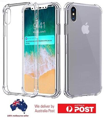AU5.99 • Buy Clear Shockproof Silicone Soft Bumper Case For Iphone 6 7 8 Plus X Xs 11 Pro Max