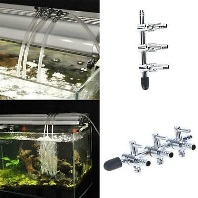 Air Flow Line Stainless Steel Control Valve Aquarium Pump Tube Splitter • 4.39£