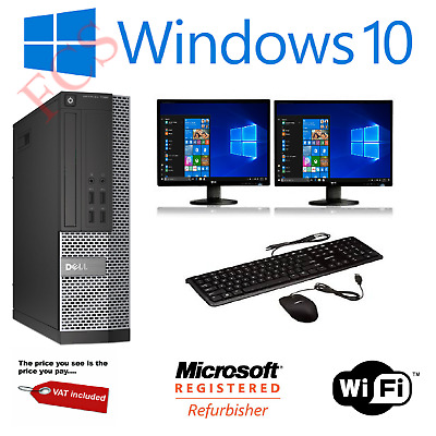 ULTRA FAST Gaming PC Bundle Intel Core I7 8GB 1TB Windows 10 GT710 DUAL SCREEN • 230£
