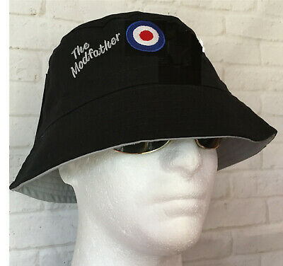 £12.95 • Buy Mods Modfather And Mod Target Bucket Hat Northern Soul Ktf Scooter Not A Patch