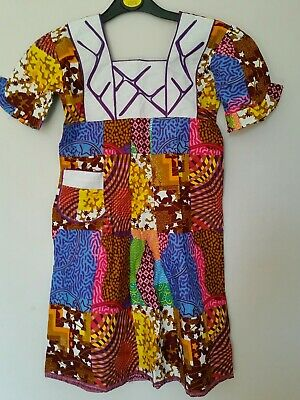 Kids African Dress Cotton Embroidered Dress Frock Age 7yrs  • 12£