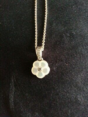 Pandora Necklace, Silver Daisy With Mother Of Pearl • 8.50£