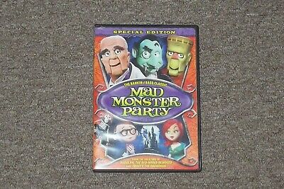 $9 • Buy MAD MONSTER PARTY DVD Rankin Bass 1967 Boris Karloff Excellent Condition
