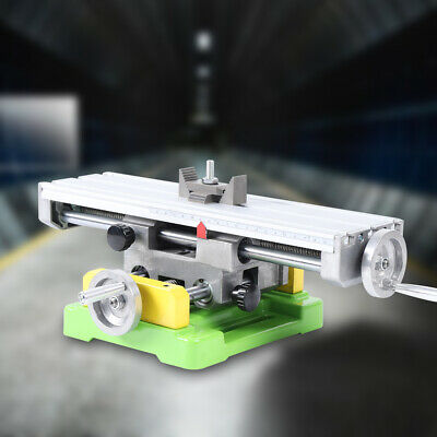 $81 • Buy Compound Mini Milling Machine XY-axis Work Table Cross Slide Bench Drill Vise