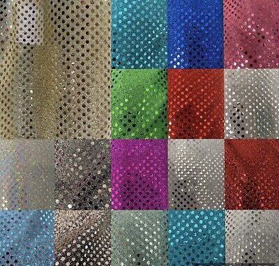 """$6.99 • Buy SMALL CONFETTI 3 MM DOT SEQUIN FABRIC BY THE YARD. 45"""" Wide. Fast Shipping"""