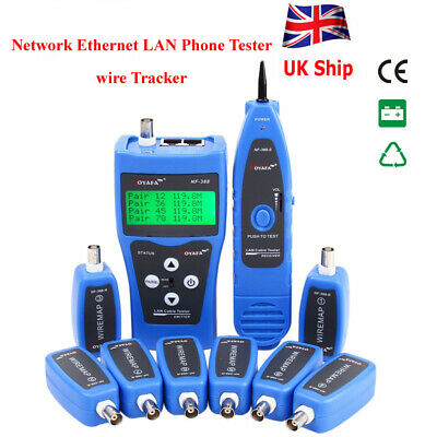 NF-388 Network Ethernet LAN Phone Tester Wire Tracker USB Coaxial Cable UK Ship • 61.99£