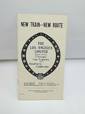$10.50 • Buy 1905 The Los Angeles Limited Union Pacific Chicago & North Western RR Brochure