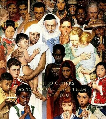 $ CDN23.17 • Buy Norman Rockwell-Golden Rule, Do Unto Others, Canvas/Paper Print