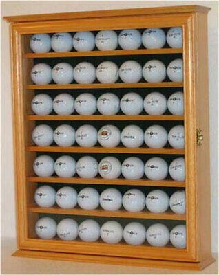 49 Golf Ball Display Case Rack Cabinet With Glass Door, LOCKABLE, GB49L-OA • 43.38£