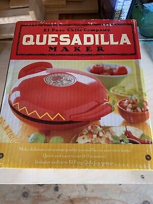 $40 • Buy New In Box • El Paso Chile Company • 10023 • Quesadilla Maker • Non-Stick+Manual