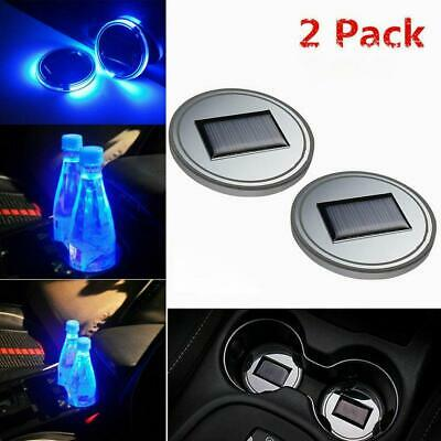 $9.48 • Buy 2X Solar Cup Pad Car Accessories LED Light Cover Interior Decoration Lights