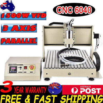 AU1194.02 • Buy 3Axis CNC 6040 1500W Router Engraver Drill Mill Machine Engraving Metalworking