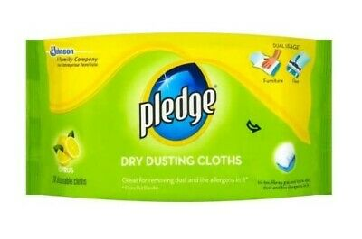 Pledge Dry Dusting Cloths Citrus 20 Wipes Furniture Cleaning Floor Disposable • 6.99£