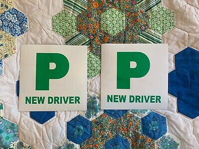 Two Magnetic Car P Plates Passed New Driver • 3.60£