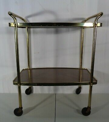 $99.95 • Buy Vintage Mid Century Modern Cosco 2 Tier Rolling Kitchen Stand Serving Cart