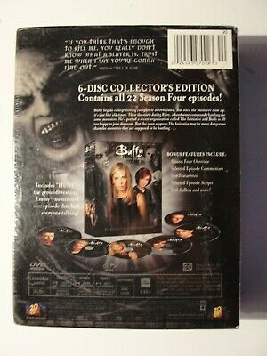 $3 • Buy Buffy The Vampire Slayer - Season 4 (DVD, 6-Disc Set, Six Disc Set) NEW SEALED
