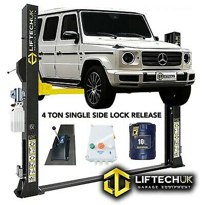 Liftech 2 Post One Side Release Lift Car Vehicle Ramp Lift  4 Ton Tonne Two Post • 1,340£